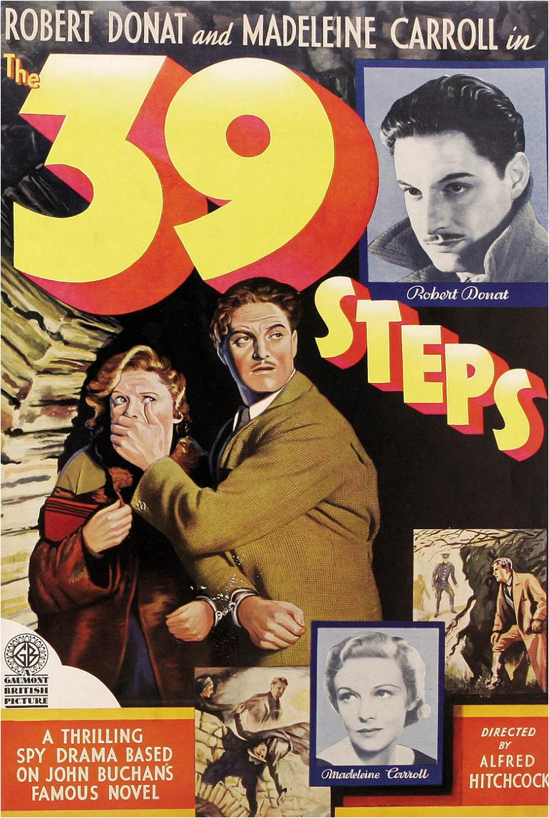 a movie analysis of 39 steps by alfred hitchcock The cast for the 39 steps at theatrefest 2018 includes (from left) austin  fans  of alfred hitchcock will appreciate the frequent allusions to such films as  click  here to read their reviews for triangle review and triangle arts.