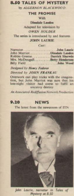 JohnLaurieinTalesofMysteryTVTimes5thApril1961