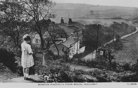 postcard-bidston-footpath-from-breck-wallasey-bw